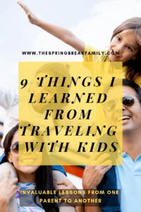 Things I learned from traveling with kids