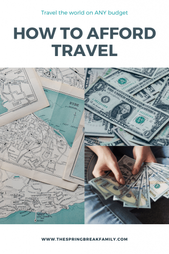 How to afford travel Pinterest