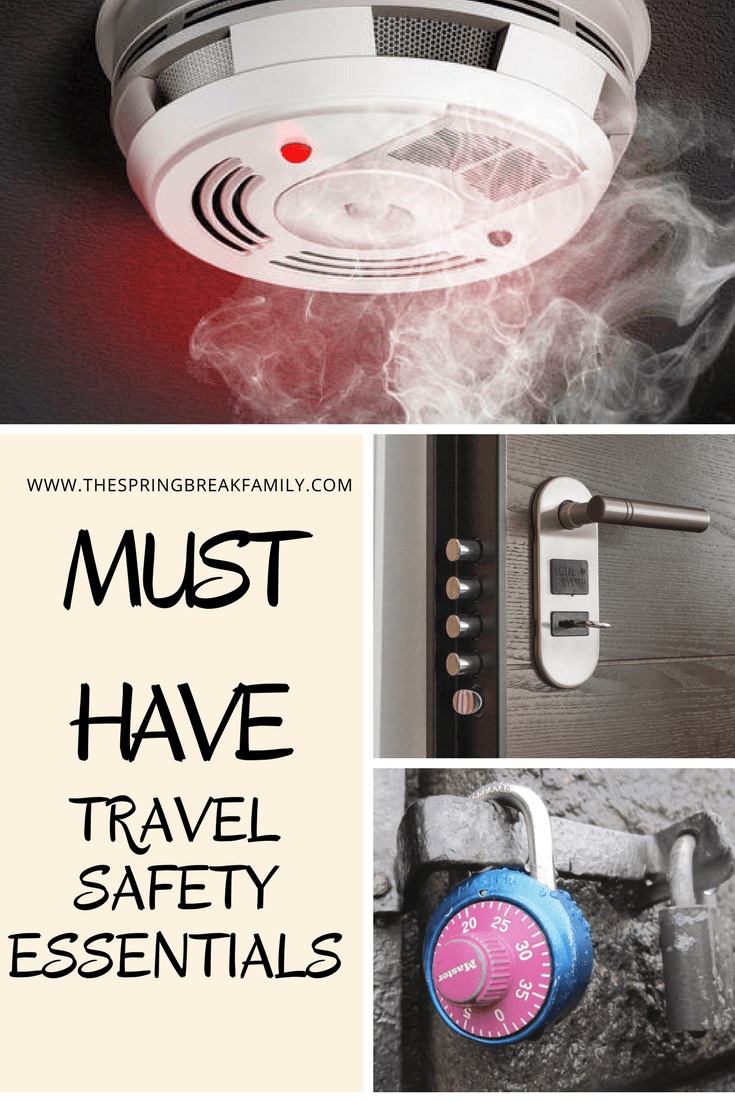 TRAVEL SAFETY ESSENTIALS: SECURE YOUR ROOM AND YOUR VALUABLES In the excitement of planning a trip, we often forget to cover safety essentials. Whether you're traveling with family, friends, or alone, here is a list of travel safety essentials that every traveler should have.