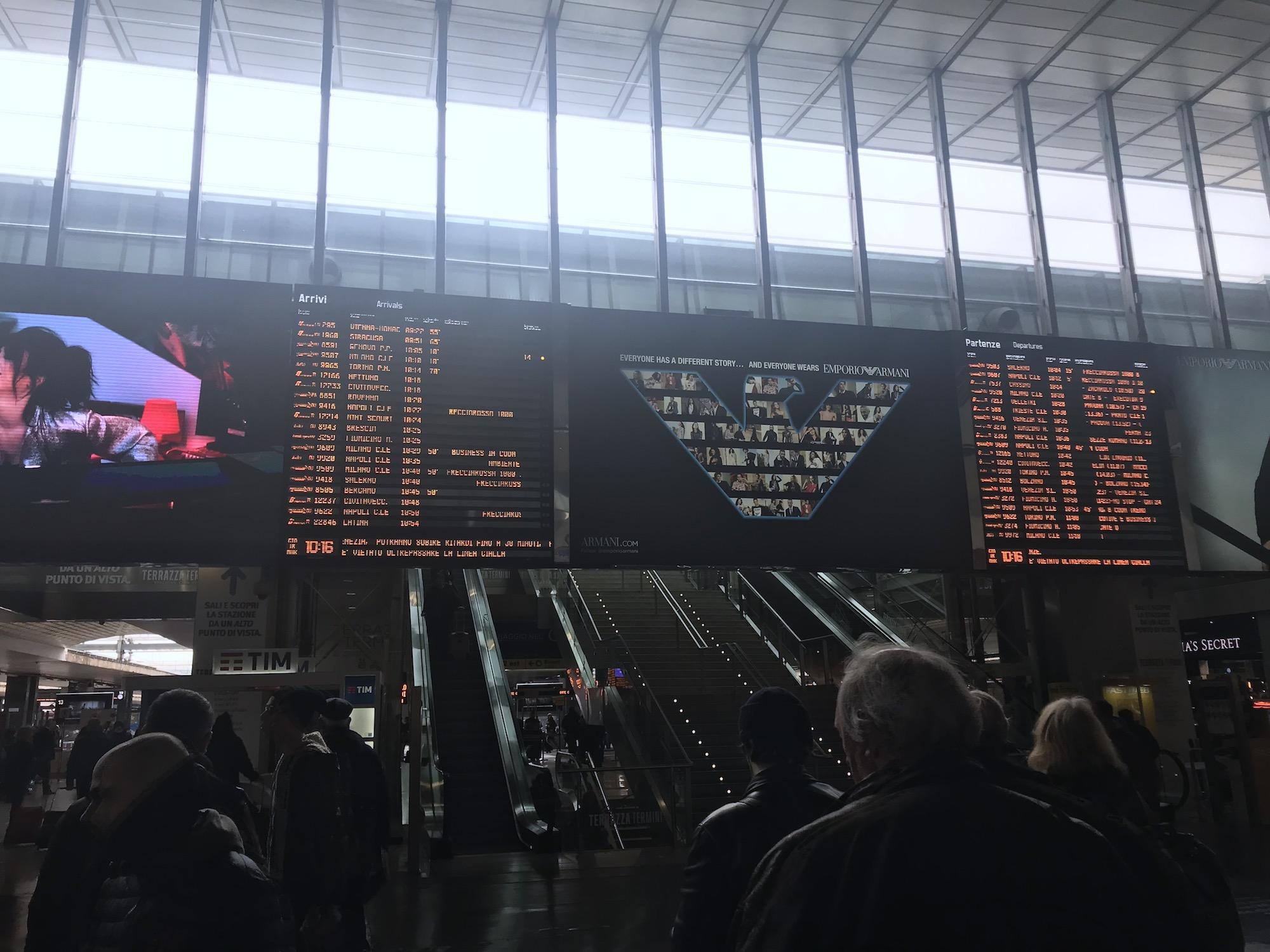 rome to venice train termini station