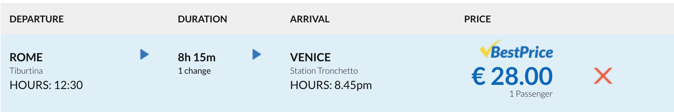 rome to venice bus euroline price