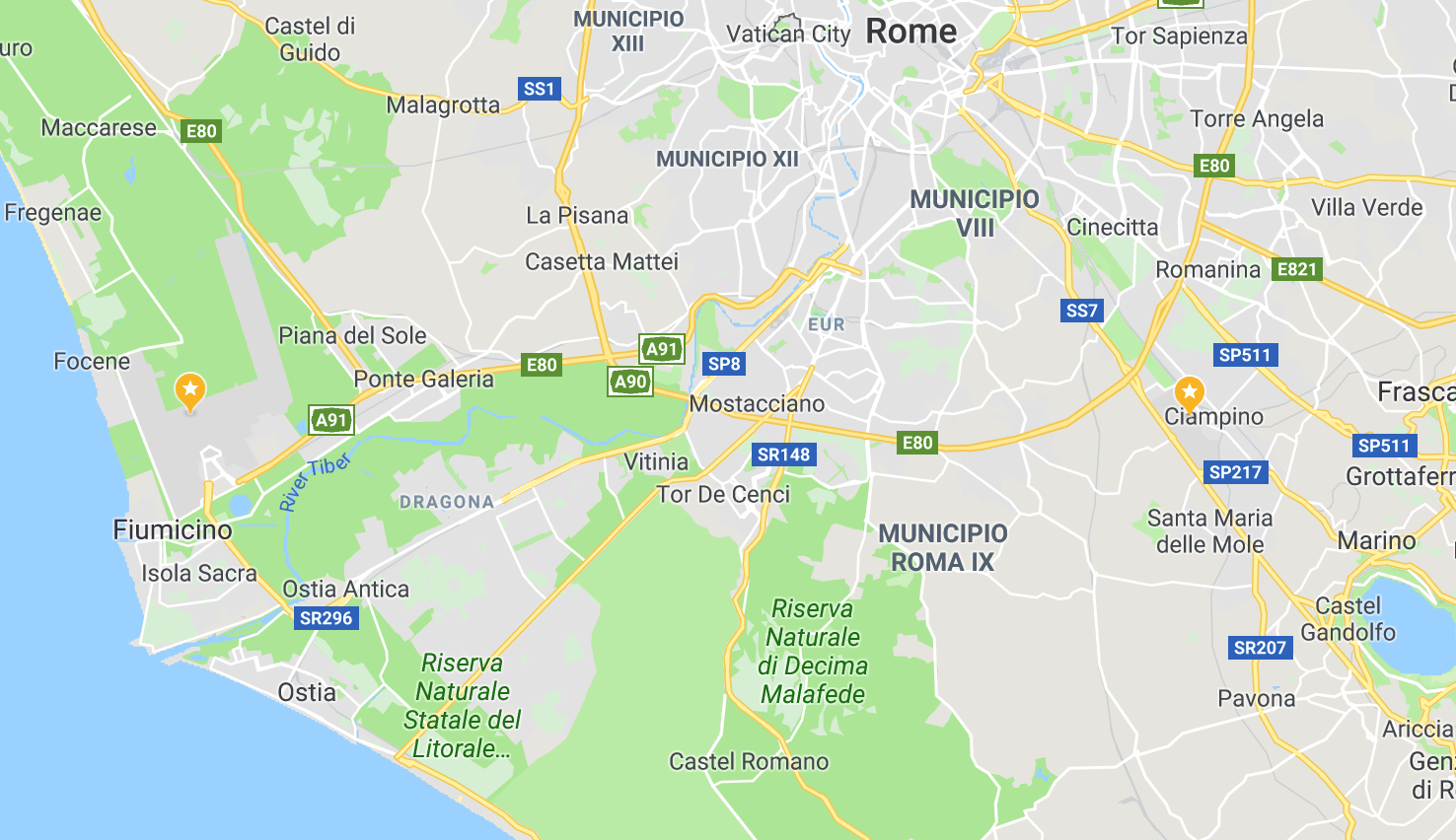 rome to venice flight airport