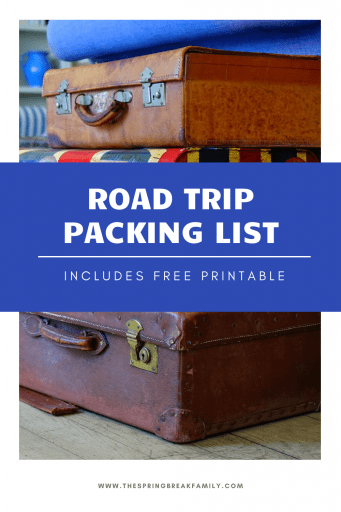 Family Road Trip Packing List Pinterest