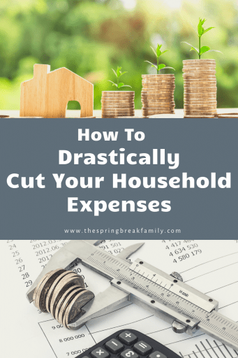 how to drastically cut your household expenses