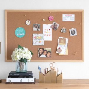 Homeschool Room Ideas - Corkboard Container STore