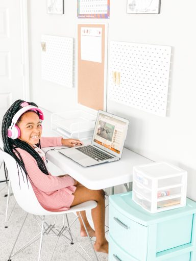 Homeschool Room Ideas - Homeschool in Small Spaces at the Computer