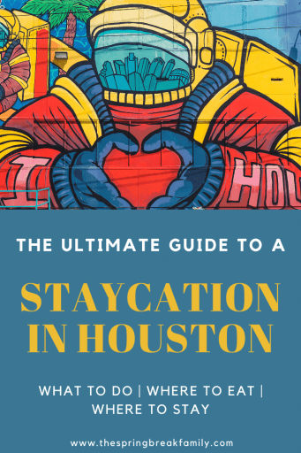 Staycation in Houston - Pinterest Pin