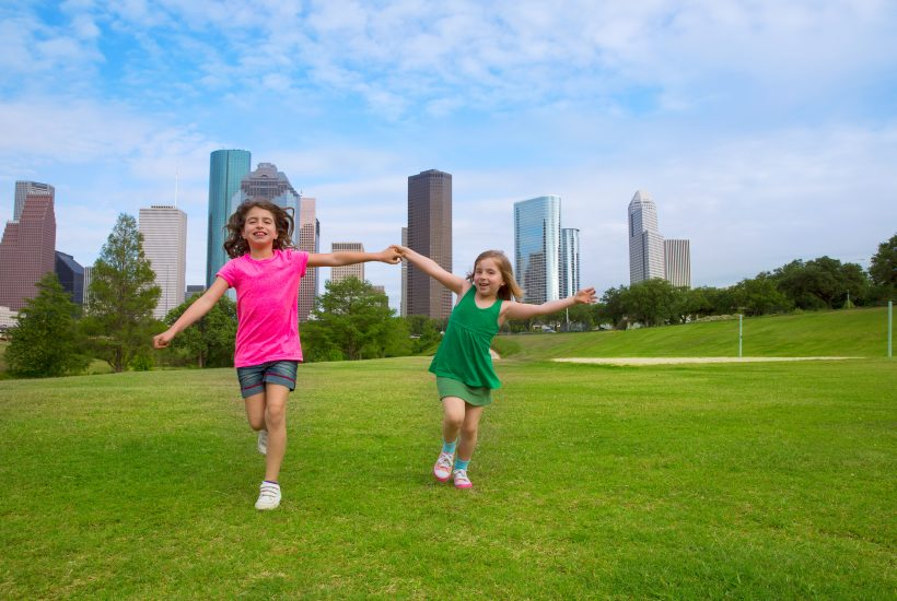 Things to do in Houston with Kids - Kids with Houston Skyline