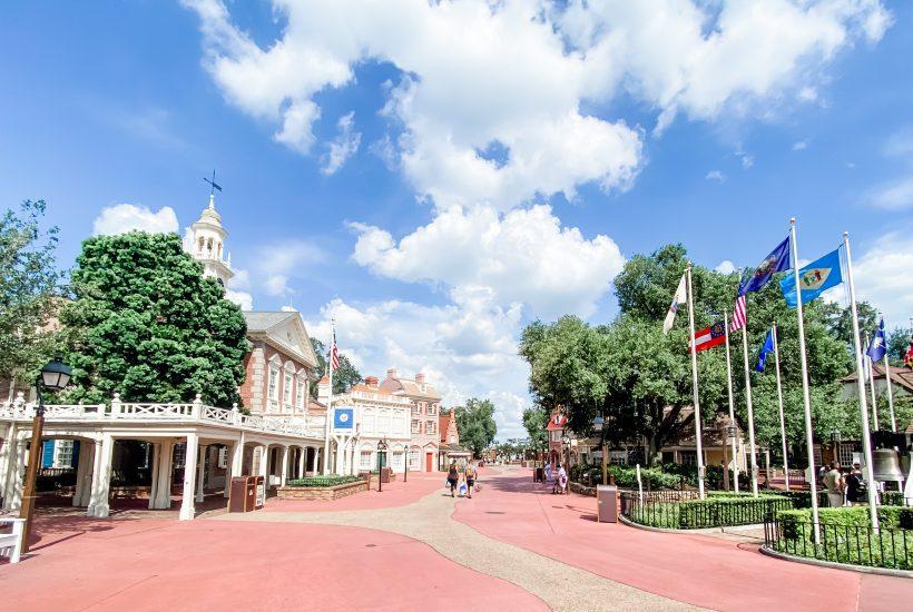 Is Disney World Safe - Empty Liberty Square at Magic Kingdom